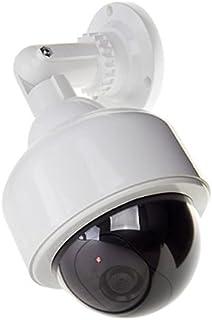 Semoic Camara simulada Exterior Camara de Seguridad simulada de Nueva Cubierta 2pzs Camara de Seguridad CCTV Falsa simulada LED Intermitente Interior/Exterior Blanco