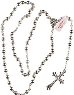 silver rosary beads uk