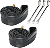 """ZSFLZS 2 Pack Bike Tube with 3 Tyre Spoon Iron Tire Levers,12"""" 14"""" 16"""" 18"""" 20"""" 22"""" 24"""" 26"""" Bicycle..."""