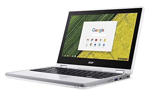"""Acer Chromebook Spin 11 Convertible Laptop, Celeron N3350, 11.6"""" HD Touch, 4GB DDR4, 32GB Storage, Wacom EMR Pen, Pearl White, CP511-1HN-C7Q1"""