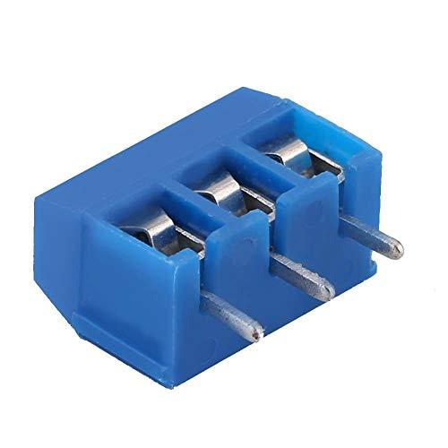 Fdit1 100 stuks 3-pins pitch schroefklemmenblok aansluiting 5,08 mm paneel PCB Mount schroefklemmen MEHRWEG verpakking Yeze-eu