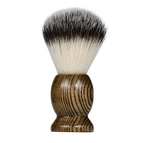 Rameng Hommes Brosse de Barbe, Blaireau Rasage Pinceau Nettoyage pour Homme Barbier Coiffeur (Noir)