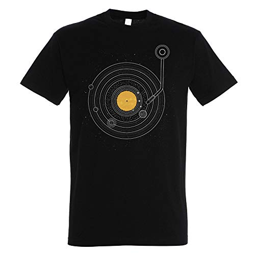 T-Shirt Cosmic Symphony - Maglietta Musica - Vinile - 100% Cotone - Stampa Serigrafica di Alta qualità