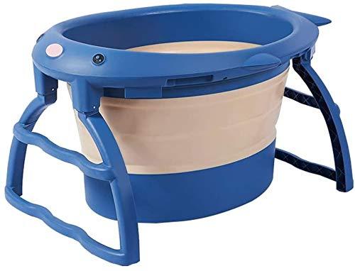 DPPAN Bañera Plegable Bebe, Plegable portátil Bañera, Bañera Hinchable Fácil De Almacenar Baño Familiar Independiente, Ideal para baño Caliente Baño de Hielo,Blue