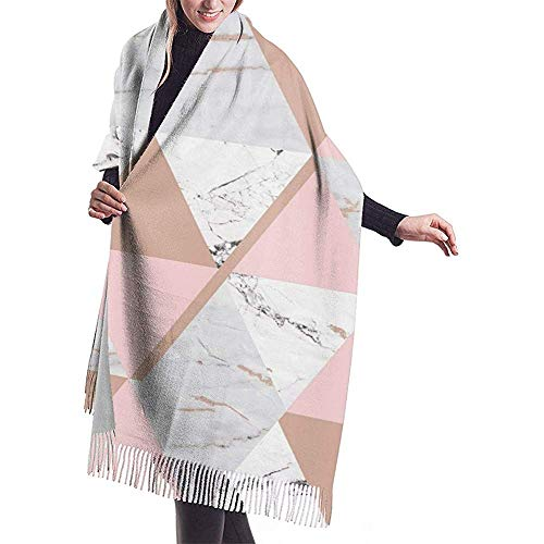 mahada marmer metallic behang soft roze goud vrouwen 'S plafond winter sjaal warme wrap oversized sjaal cape