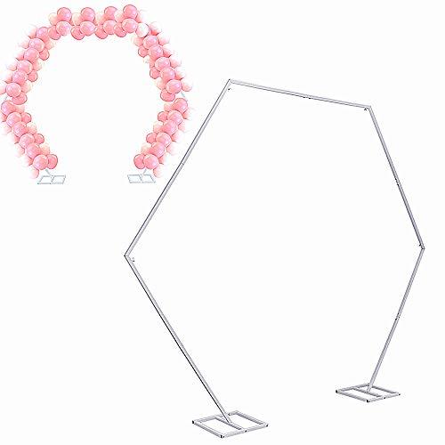 UKMASTER Ballon Bogen Arch Kit 2.4M Hoch Rankbogen Groß Metall DIY Torbogen Rankhilfer Blumenbogen für Geburtstag Hochzeit Garten Dekoration