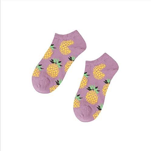 Heliansheng Calcetines Casuales para Hombres y Mujeres, Calcetines Divertidos, Calcetines de Tobillo, Calcetines de Skate, Calcetines Deportivos de Calle, Tobillo de piña, Talla única