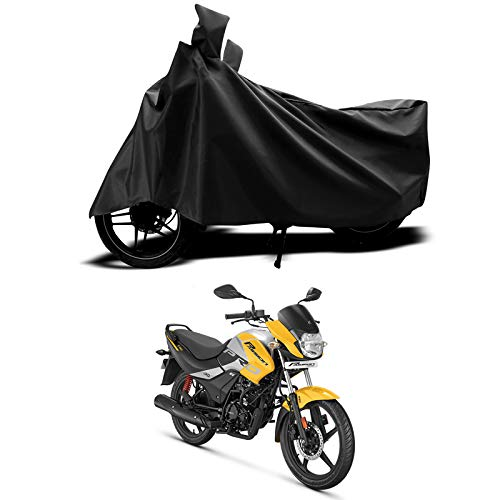 SEBONGO™ - Hero Passion Pro BS6 - Dustproof - UV Protection - Water Resistant- Bike Cover/Scooty Body Cover (Black)