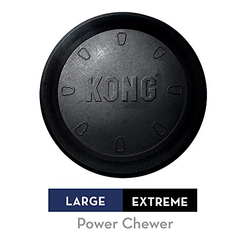 KONG - Extreme Flyer - Durable Rubber, Soft Flying Disc for Power Chewers,...