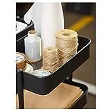 BestOnlineDeals01 Tranvía RÅSKOG, negro, 35x45x78 cm, duradero y fácil de cuidar. Mesas auxiliares, mesas de café y mesas, mesas y escritorios. Muebles respetuosos con el medio ambiente.