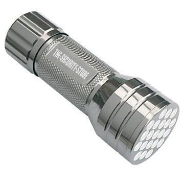 Chrome 21 Lampe torche à LED compact de sécurité/Police/Armée (Oreillettes)
