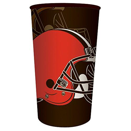 Creative Converting 20 Count NFL 22 oz Plastic Souvenir Cups, Cleveland Browns