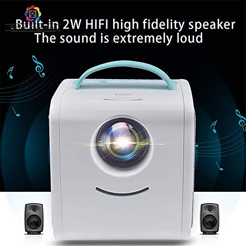 Mini Projector Supports HD 1080P Supports PC/Mac/TV/DVD USB Sd Av Hdmi Home Theater Amplifier