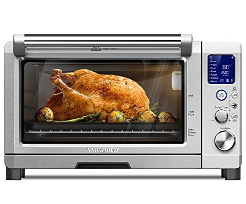 Convection Toaster Oven, Willsence 4 Slice Toaster Oven Digital, 1600W Countertop Oven Stainless Steel with 8 Pre-set Cooking Functions