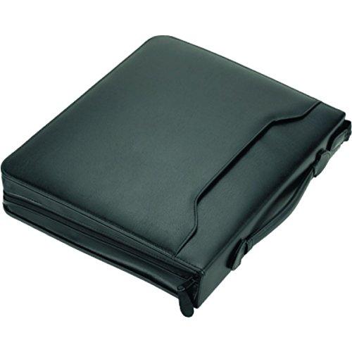 Alassio 30075 - Tagungsmappe A4 AREZZO I, aus echtem Leder, schwarz, ca. 36 × 30 × 6 cm