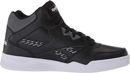 Reebok Men's Royal BB4500 HI2 Sneaker, Black/White/Cold Grey, 6.5 M US