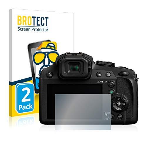 BROTECT Protector Pantalla Anti-Reflejos Compatible con Panasonic Lumix DC-FZ82 (2 Unidades) Pelicula Mate Anti-Huellas