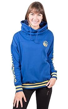 Ultra Game NBA Golden State Warriors Womens Quarter Zip Fleece Pullover Sweatshirt with Zipper Team Color Small