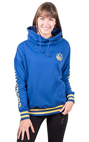 Ultra Game NBA Golden State Warriors Womens Quarter Zip Fleece Pullover Sweatshirt with Zipper, Team Color, Medium