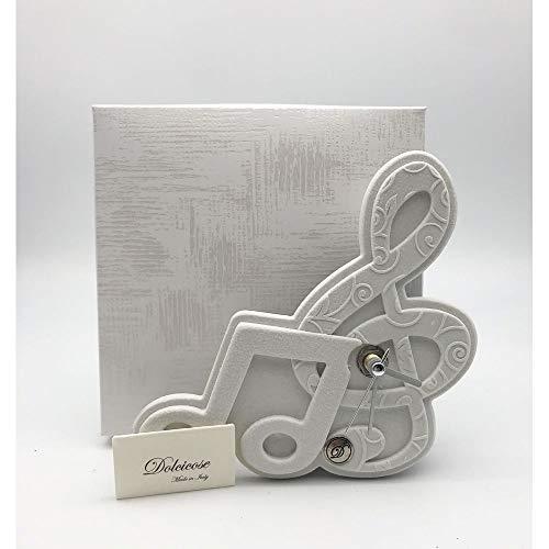 A&D Sol - Reloj con llave de violín, 15 x 15 cm, fabricado en Italia