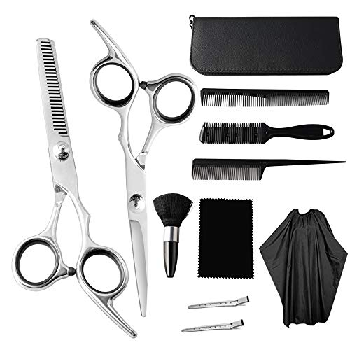 LETEASE Hair Cutting Scissors Set, 11 Pcs Professional Hairdressing...