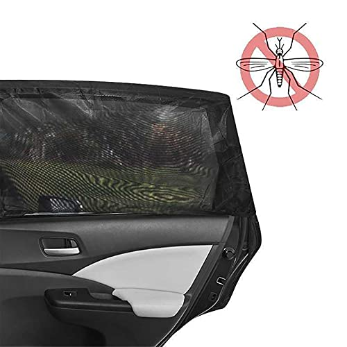 CUI Sombrilla para coche, parasol para ventanas de coche, polvo y UV. Apto para la mayoría de las ventanas laterales de coche cubren toda la zona de la ventana lateral (tamaño: luna trasera).