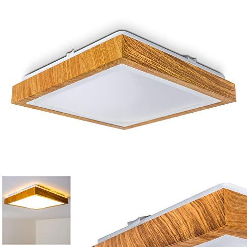 Plafoniera a LED Sora in legno 1380 Lumen 18 Watt 3000 Kelvin bianco caldo adatta per il bagno