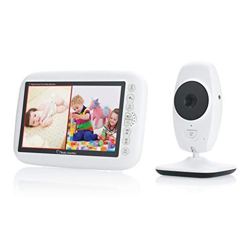 """YZY Video Vigilabebés con cámara 7\""""HD Pantalla grande Canciones de cuna incorporadas Monitoreo de temperatura de visión nocturna y conversación de 2 vías"""