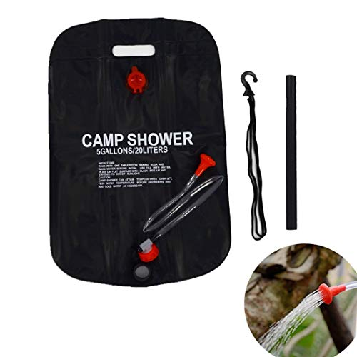 2X 20L Solar Power Shower Camping Water Portable Bag Sun Compact Heated Outdoor