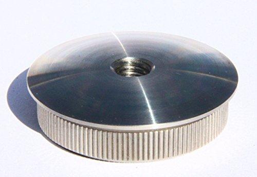UHRIG ® Edelstahl Endkappe gewölbt für Geländerpfosten 42,4x2 mit Innengew. M8 (#973)