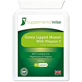 Green Lipped Mussel Capsules for Humans and Dogs – 90 x 500mg – Powerful Joint Care Supplement – Hip, Knee and Ligament Pain Relief – Effective Anti-Inflammatory – 100% Pure with No Fillers or Mixers