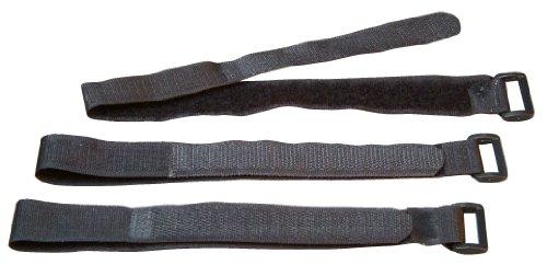 Kopp 328100097 Klettband schwarz mit Öse, 330 x 20 mm, 3 Stück