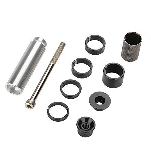 2.54cm Aluminum Alloy Bicycle Fork Stem Extender MTB Bike Handlebar Riser Head Up Adapter, Silver