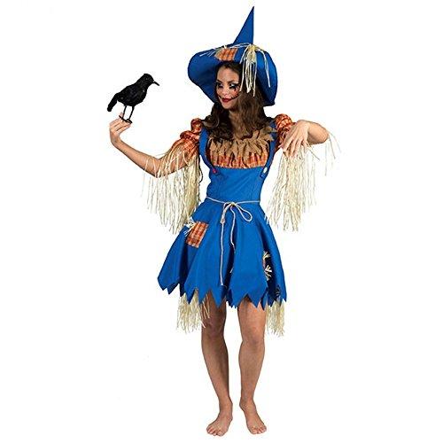 Funny Fashion Vogelscheuchen Frau Olivia Kleid Hut Strohpuppe Mottoparty Garten (40/42)