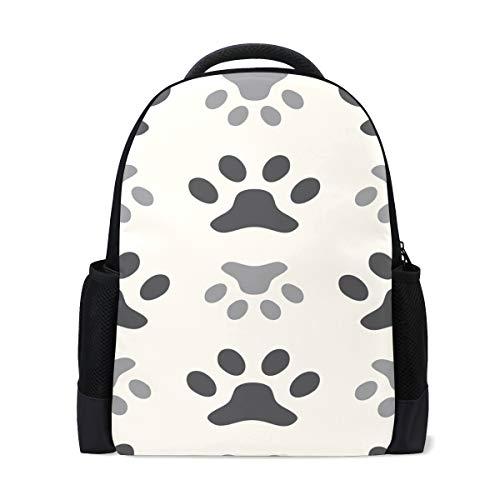 FANTAZIO - Mochila para perro, diseño de huella de perro