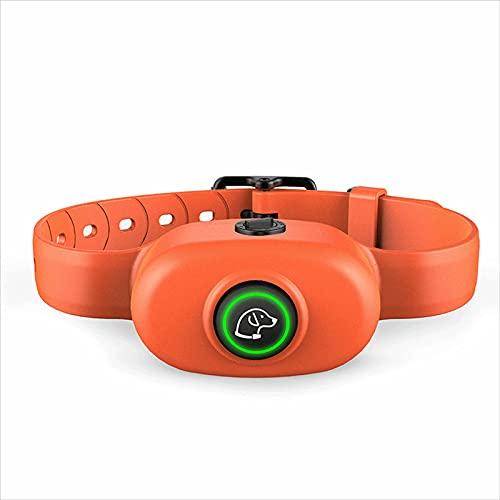 ZHIWE Collar de Adiestramiento Antiladridos Descargas Electrico Ajustable para Perros Pequeños Medianos y Grandes(Color:Naranja)