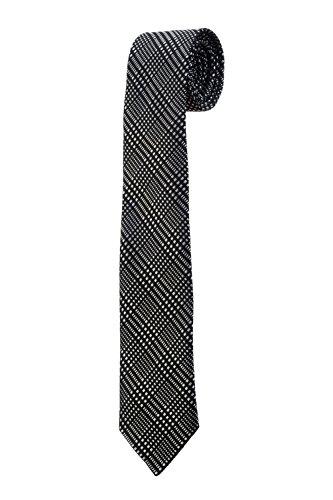 Oh La Belle Cravate Cravate fine slim DESIGN carreau noir blanc dandy mariage RTS