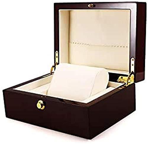 Caja de reloj de pintura de madera caja de reloj 1 ranuras para reloj caja de reloj de madera organizador de almacenamiento de regalo