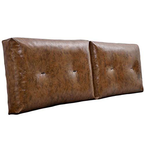 QIANCHENG-Cushion Kopfteil Rückenlehnen Bett Kissen Taillenpolster Soft Case Multifunktion Rückenlehne Einfach zu säubern, 6 Farben (Color : #6, Size : 120x55cm)