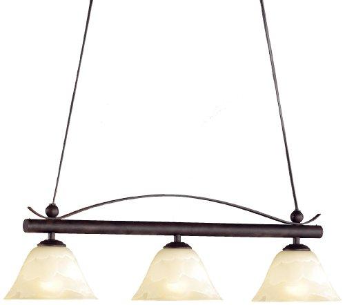 Honsel Leuchten 70653 - Lámpara de techo, cristal antiguo color alabastro, metal color marrón rojizo