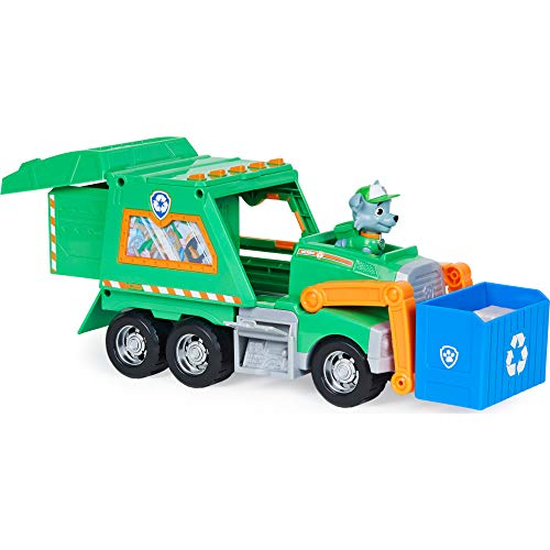 PAW Patrol 6060259 Paw Patrol Rockys Deluxe-Recycling-Truck mit Sammelfigur und 3 Werkzeugen