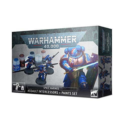 Games Workshop - Warhammer 40,000: Space Marines Assault Intercessor and Paint Set