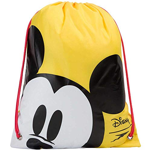 Speedo Borsa da Nuoto Disney Topolino, Unisex-Youth, Empire Yellow/Nero/Bianco, One Size