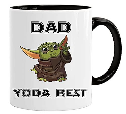 Juego de taza y caja de regalo para el día del padre de 11 onzas de calidad premium de humor de trabajo – Dad Yoda Best