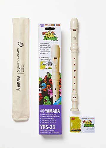 Yamaha YRS23 Soprano Recorder Bundle Flute Master