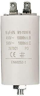 Condensador de Arranque para Motor electrico 16.0 uF 450 Vac, Cablepelado®