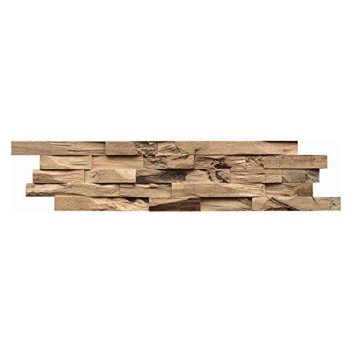 INDO Holz Wandverkleidung Wandverblendung Beachwood Hevea Natur Fläche 1 m²