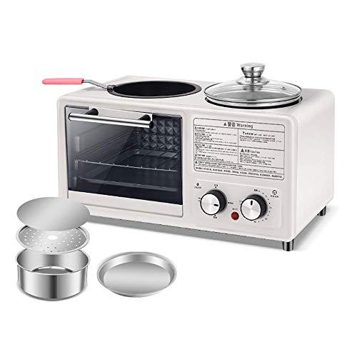 BBGSFDC Accueil Multifonctions Petit déjeuner Machine Four in One Fried rôtissage Automatique Electric Appliance antiadhésives Facile à Nettoyer, Bleu, B (Color : White, Size : B)