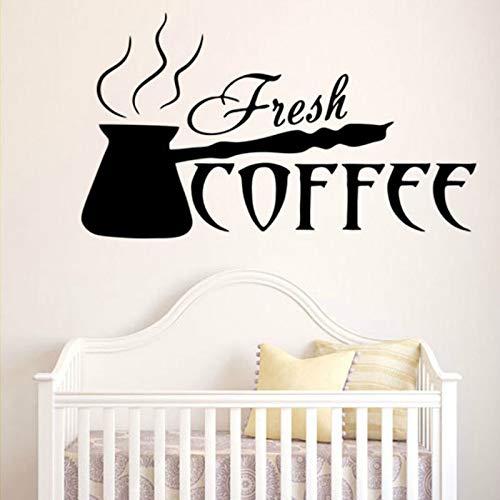 Englisch kaffee schrift küche wohnzimmer dekoration aufkleber mode art deco decal57X32cm