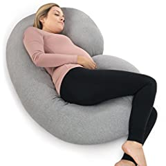 THE ULTIMATE PREGNANCY PILLOW - C-shaped body pillow design replaces need for multiple bed pillows, helping support your back, hips, knees, neck and head. MULTIPURPOSE MATERNITY PILLOW - Adjustable polyfill material adapts to your belly and back when...